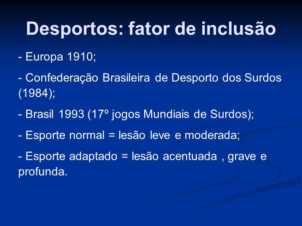 Desportos: fator de inclusão