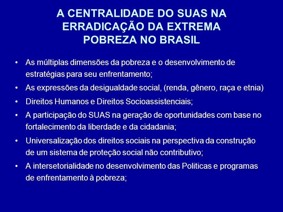 A CENTRALIDADE DO SUAS NA ERRADICAÇÃO DA EXTREMA POBREZA NO BRASIL