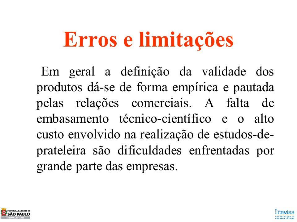 Erros e limitações