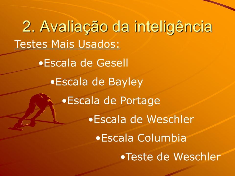2. Avaliação da inteligência