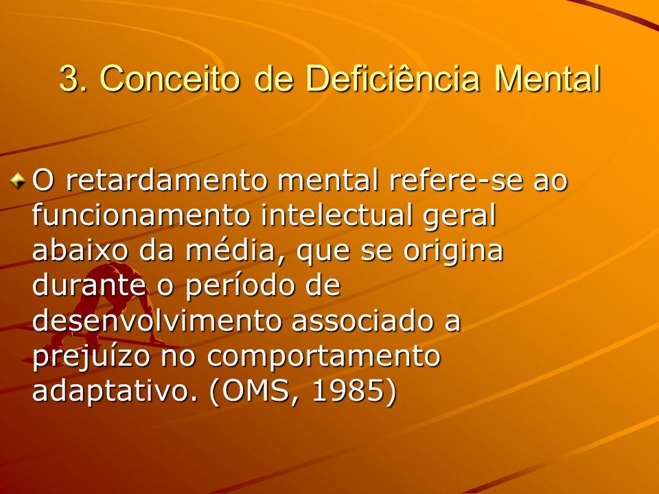 3. Conceito de Deficiência Mental
