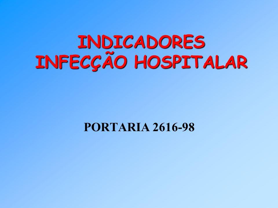 INDICADORES INFECÇÃO HOSPITALAR