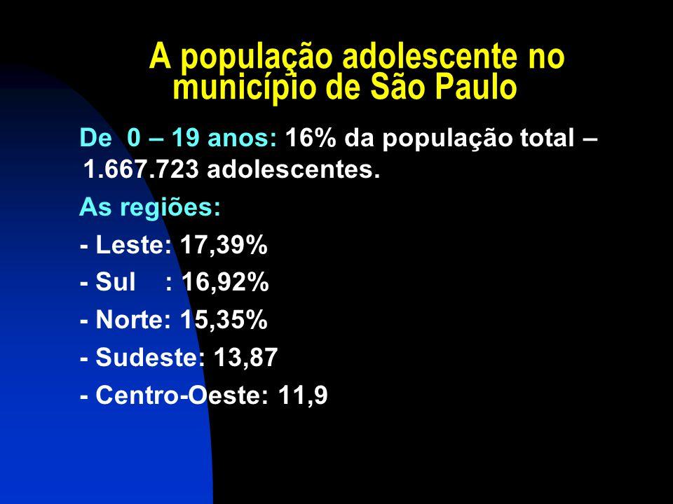 A população adolescente no município de São Paulo