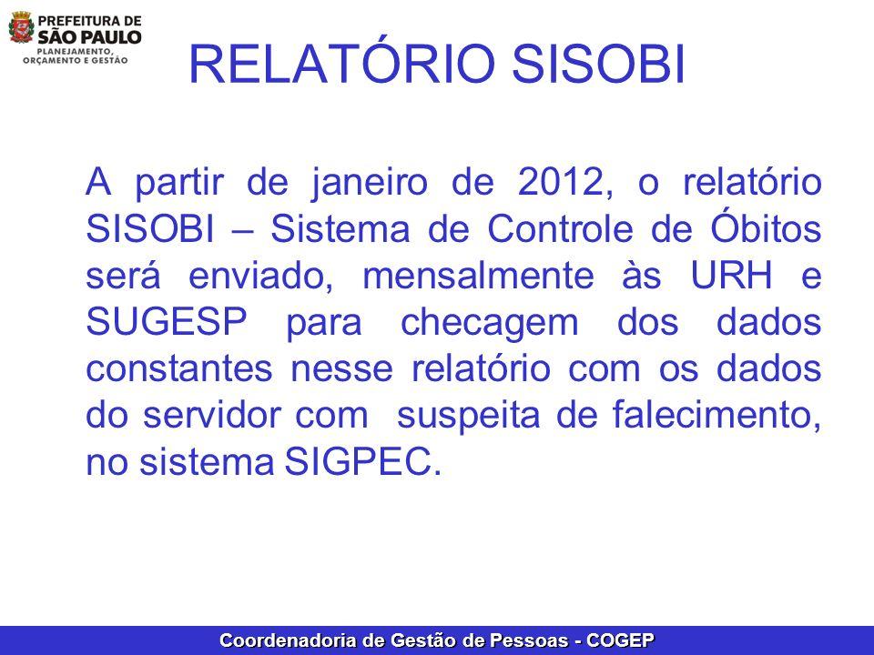 RELATÓRIO SISOBI