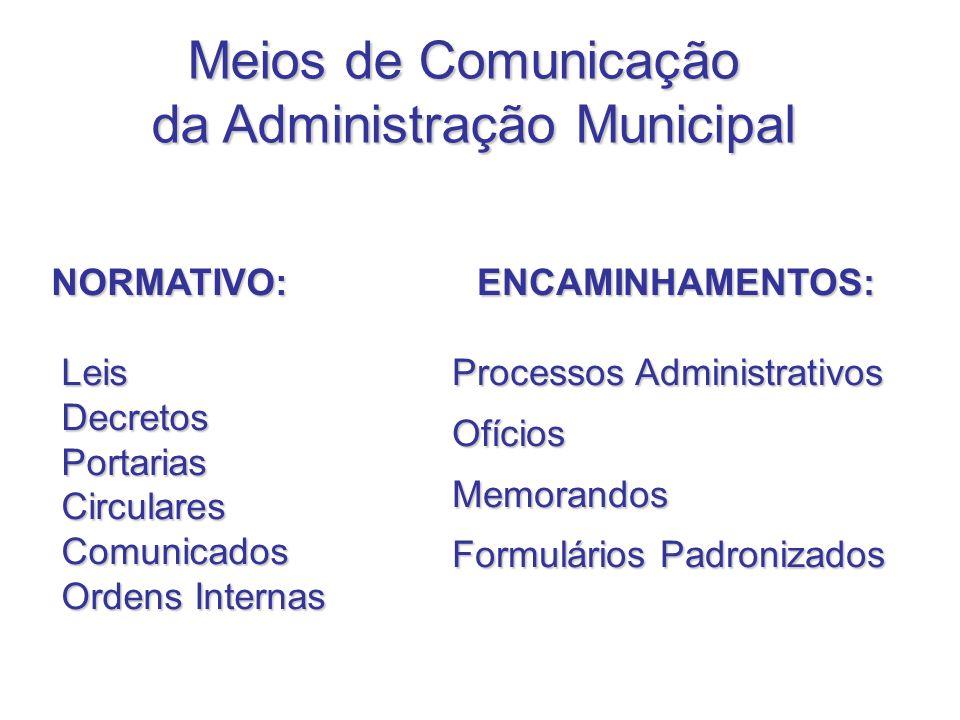 da Administração Municipal