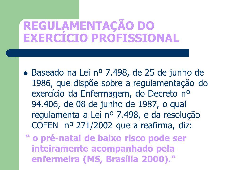 REGULAMENTAÇÃO DO EXERCÍCIO PROFISSIONAL