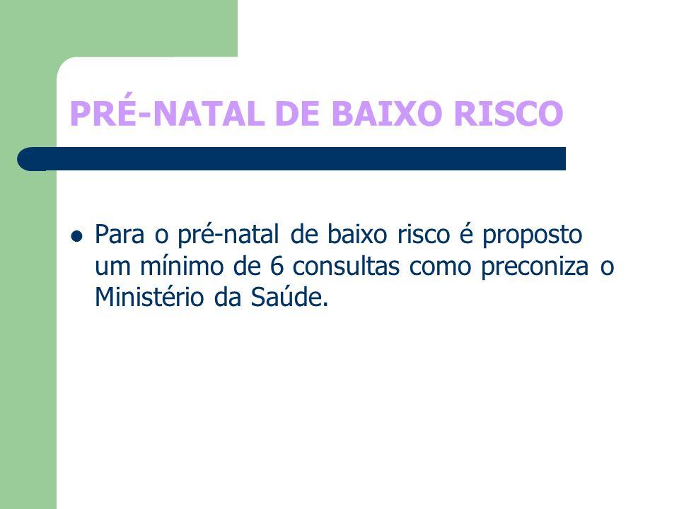 PRÉ-NATAL DE BAIXO RISCO