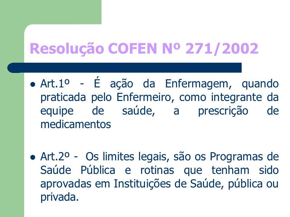 Resolução COFEN Nº 271/2002