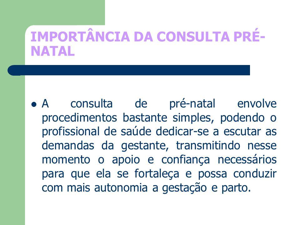 IMPORTÂNCIA DA CONSULTA PRÉ-NATAL