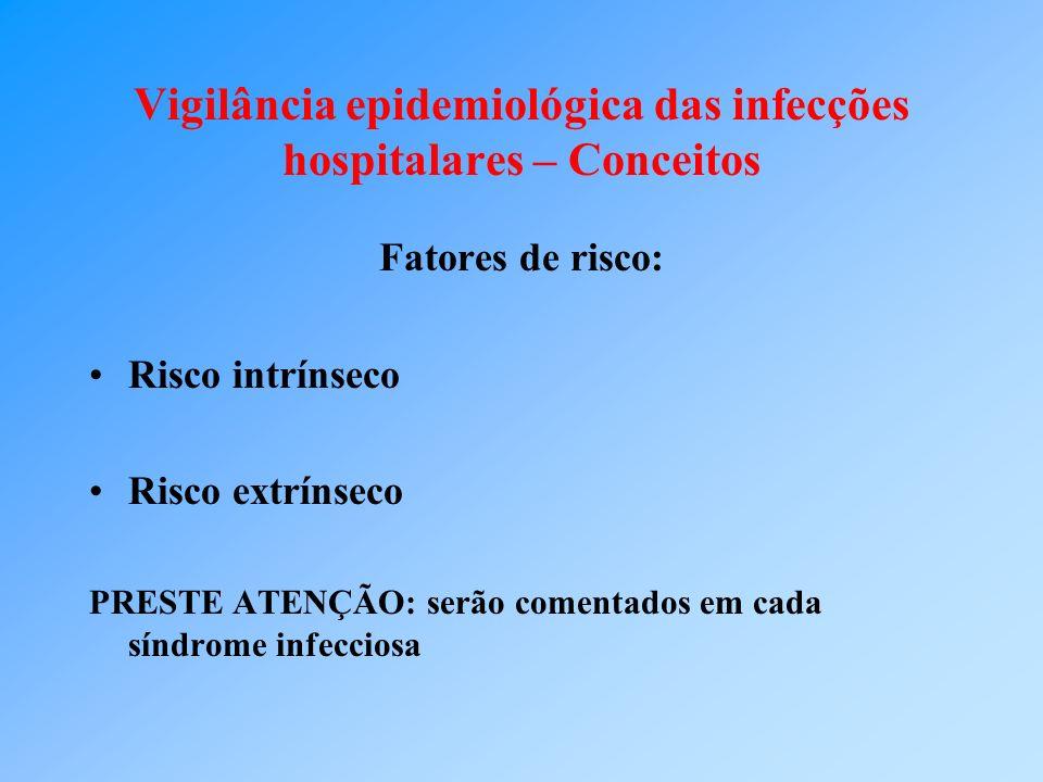 Vigilância epidemiológica das infecções hospitalares – Conceitos