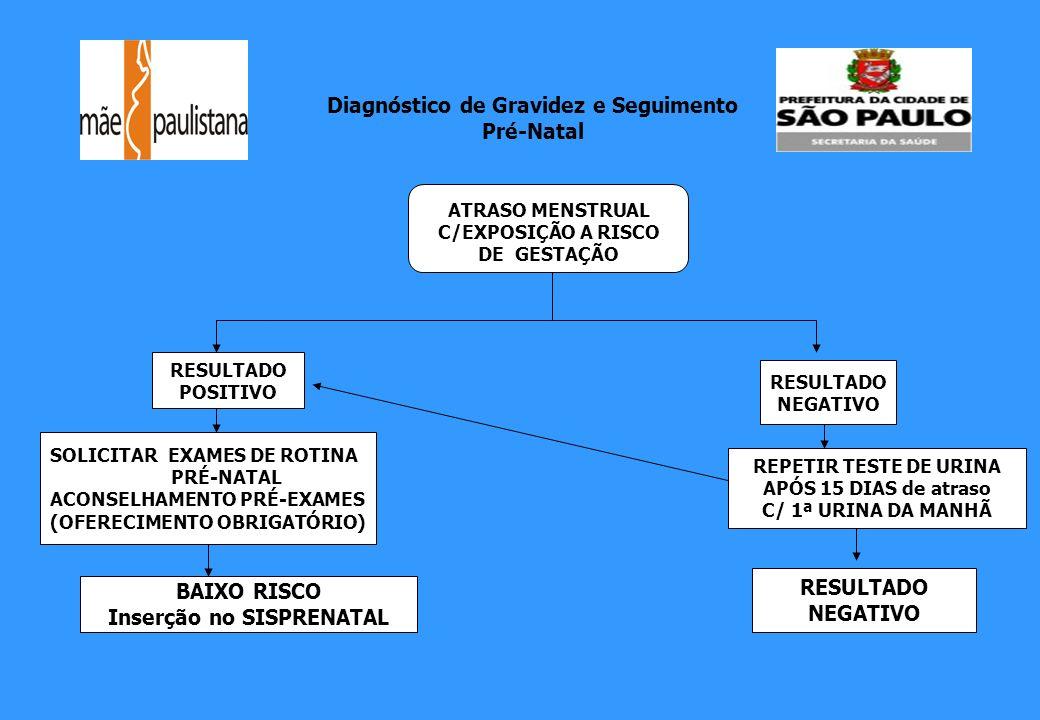 Diagnóstico de Gravidez e Seguimento Pré-Natal Inserção no SISPRENATAL