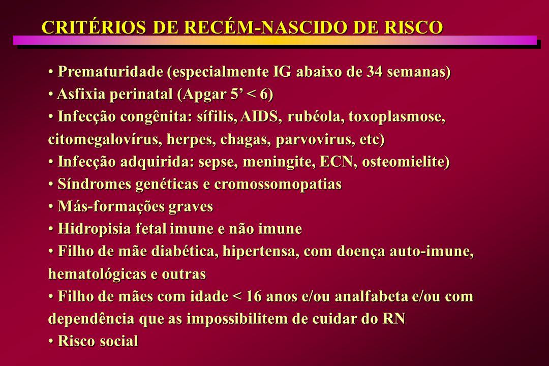 CRITÉRIOS DE RECÉM-NASCIDO DE RISCO