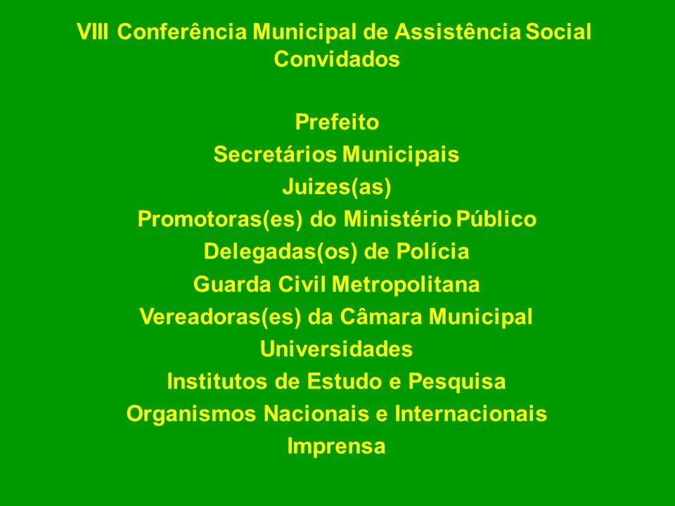 VIII Conferência Municipal de Assistência Social Convidados