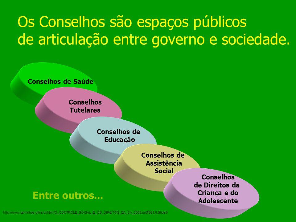 Os Conselhos são espaços públicos