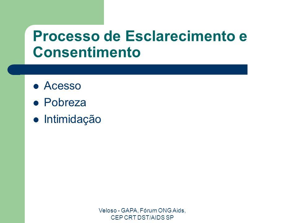 Processo de Esclarecimento e Consentimento