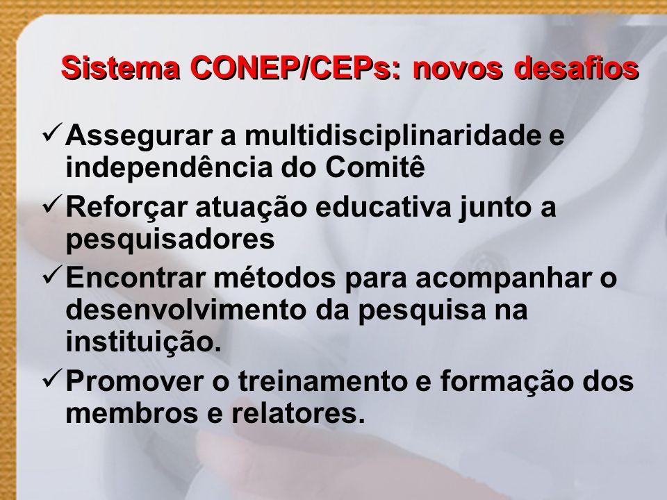 Sistema CONEP/CEPs: novos desafios