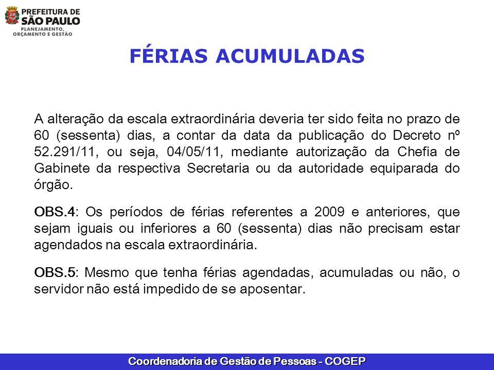 FÉRIAS ACUMULADAS