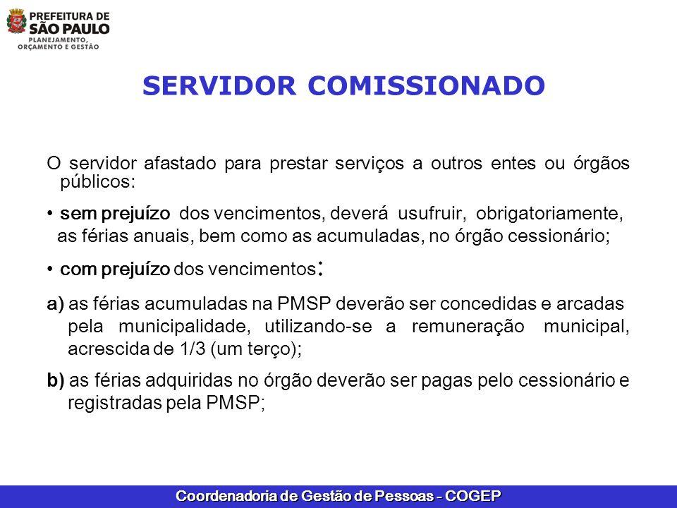 SERVIDOR COMISSIONADO
