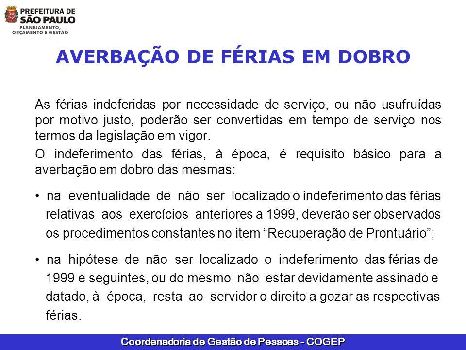 AVERBAÇÃO DE FÉRIAS EM DOBRO