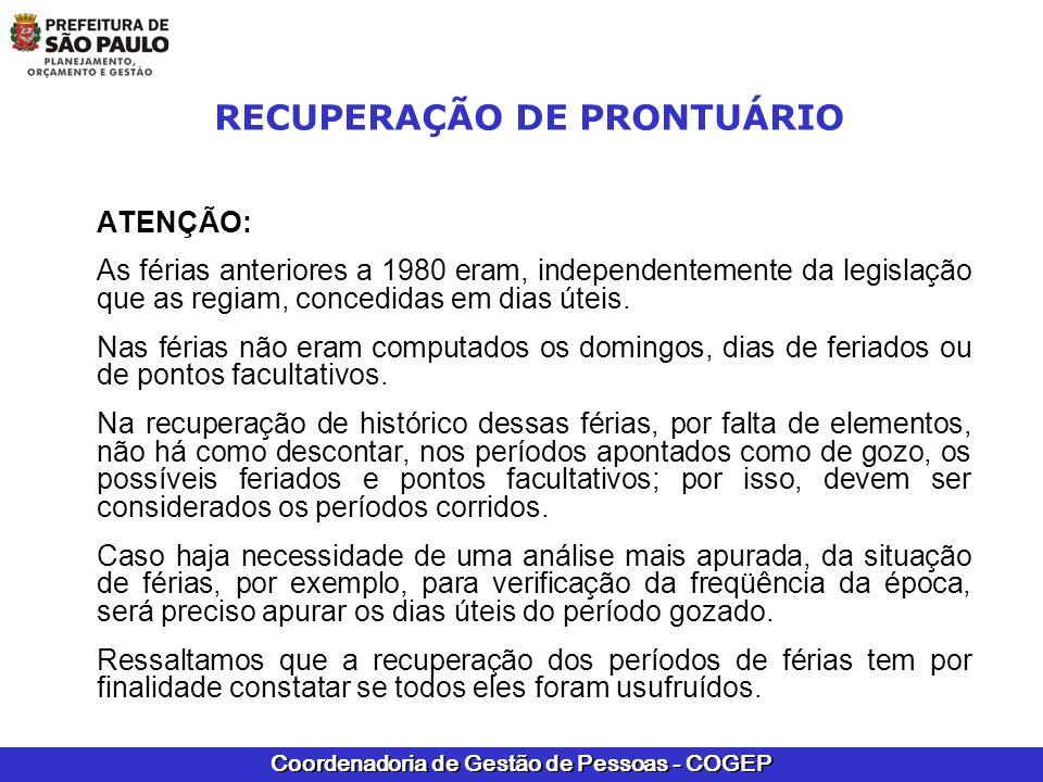 RECUPERAÇÃO DE PRONTUÁRIO