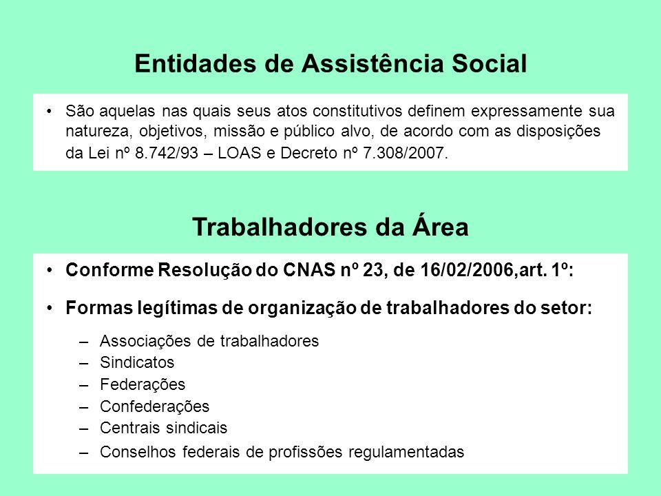 Entidades de Assistência Social