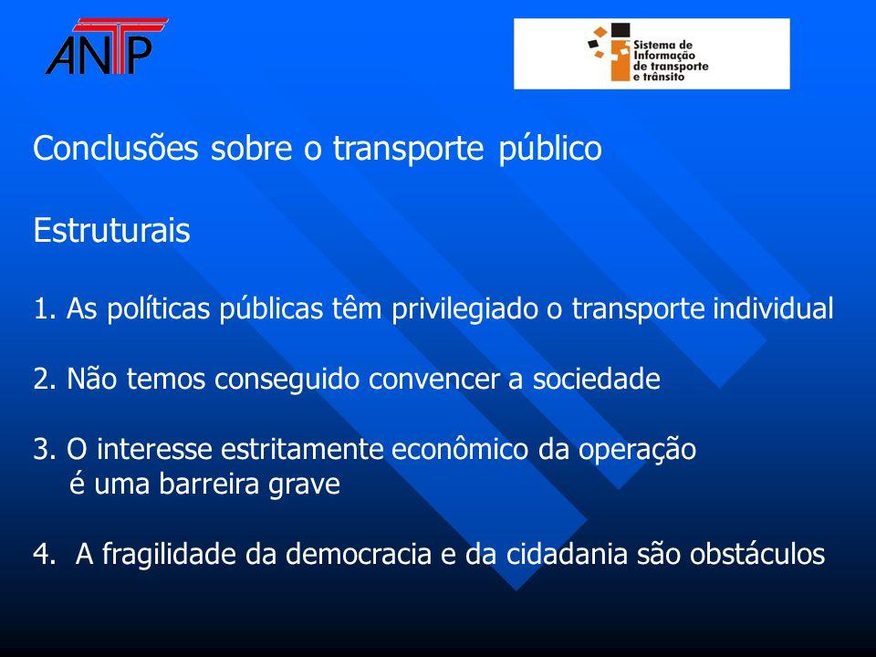Conclusões sobre o transporte público Estruturais