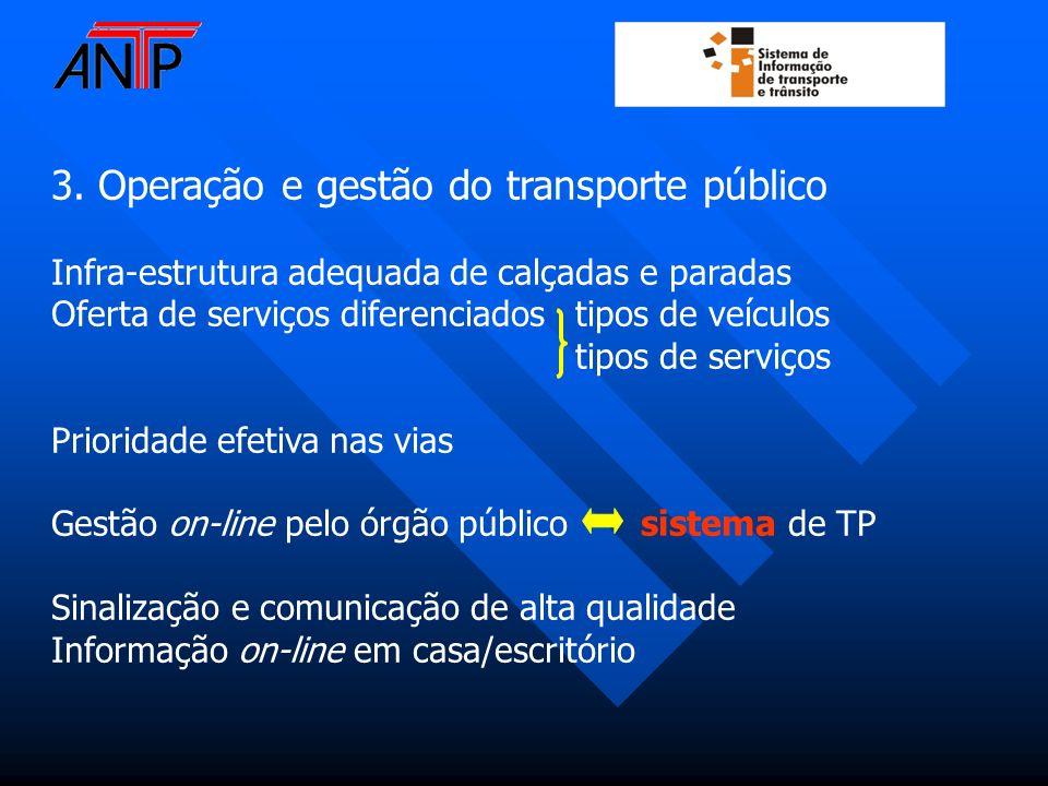 3. Operação e gestão do transporte público