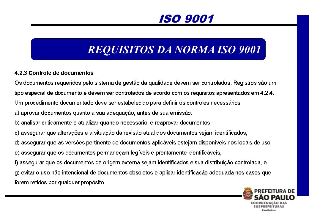 ISO 9001 REQUISITOS DA NORMA ISO 9001