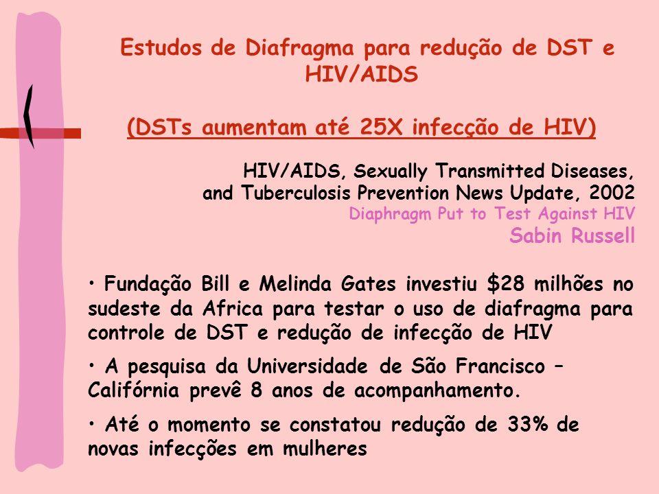 (DSTs aumentam até 25X infecção de HIV)