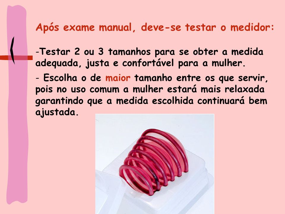 Após exame manual, deve-se testar o medidor: