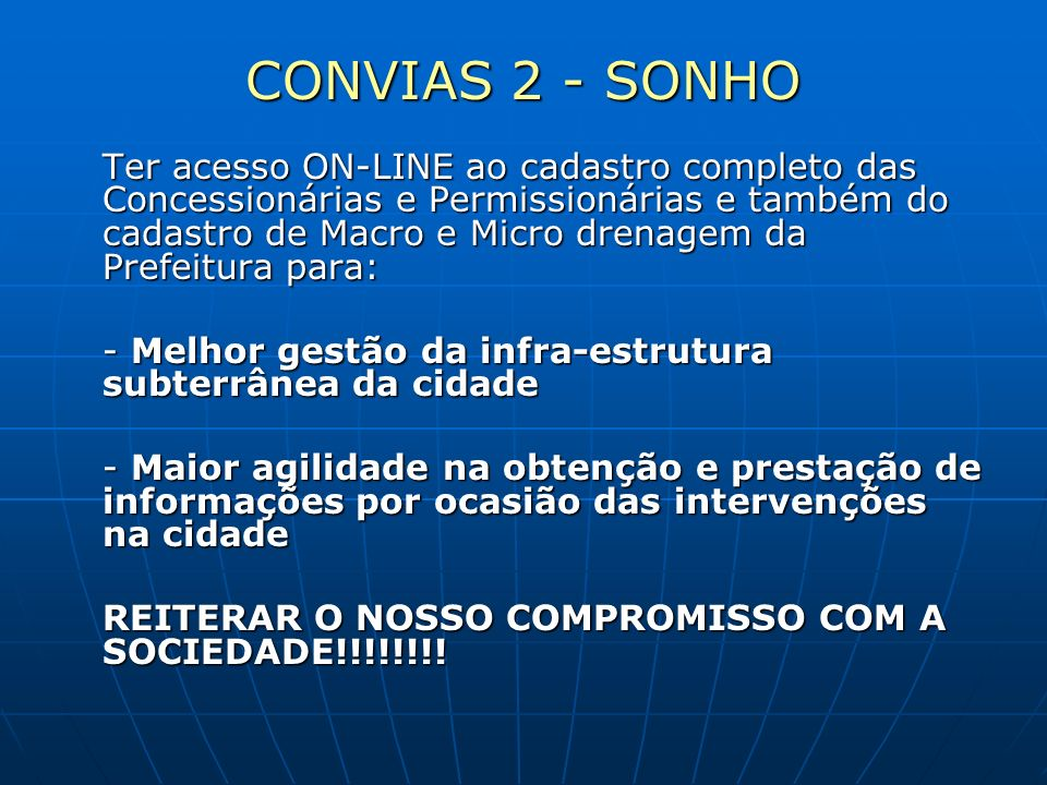 CONVIAS 2 - SONHO