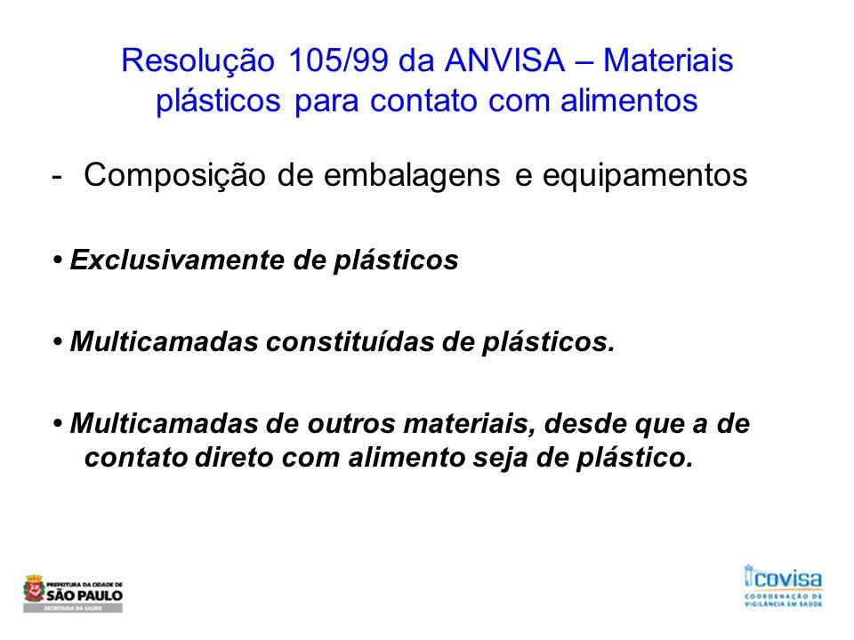 Composição de embalagens e equipamentos