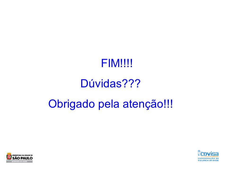 FIM!!!! Dúvidas Obrigado pela atenção!!!