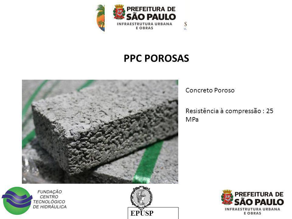PPC POROSAS Concreto Poroso Resistência à compressão : 25 MPa :