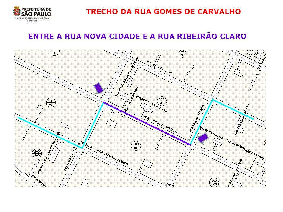 TRECHO DA RUA GOMES DE CARVALHO