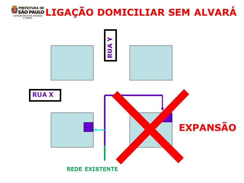 LIGAÇÃO DOMICILIAR SEM ALVARÁ
