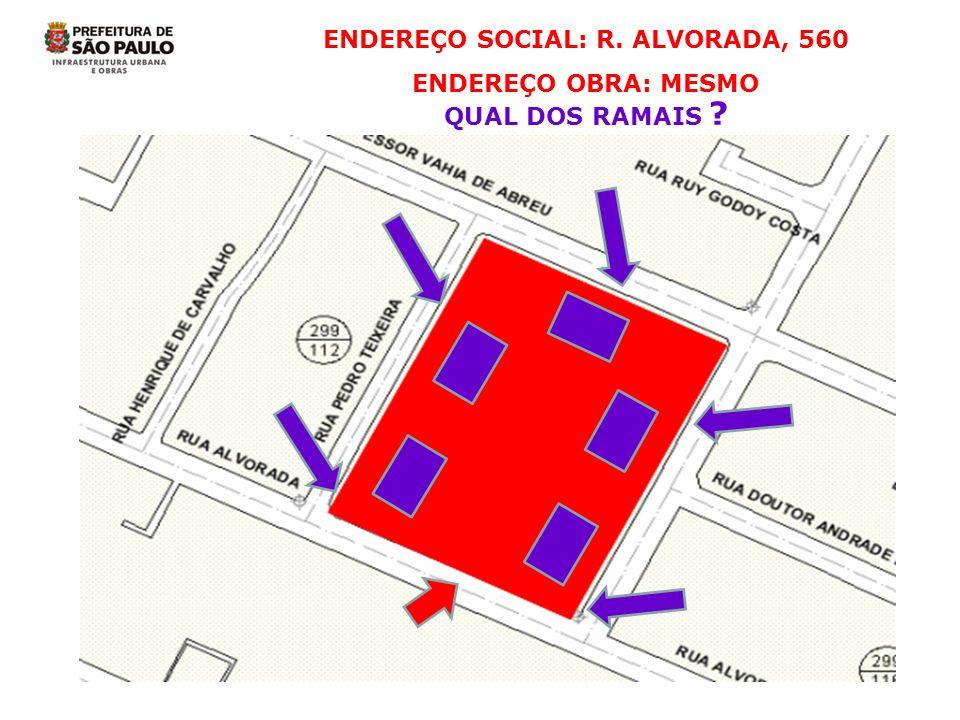 ENDEREÇO SOCIAL: R. ALVORADA, 560