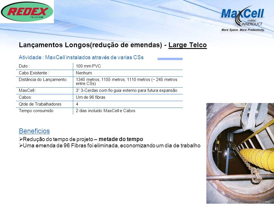 Lançamentos Longos(redução de emendas) - Large Telco