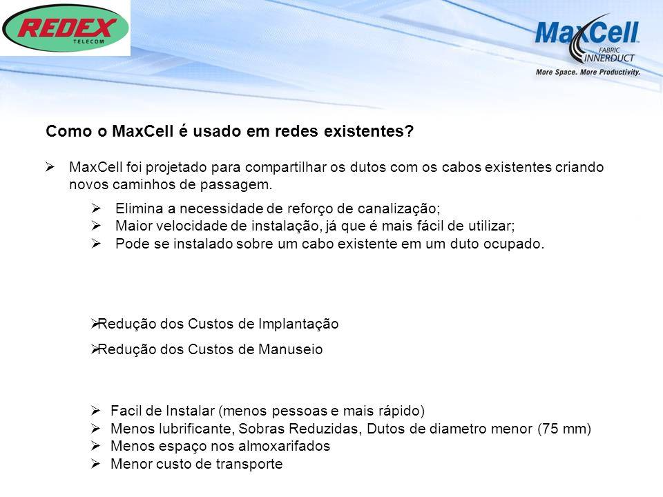 Como o MaxCell é usado em redes existentes