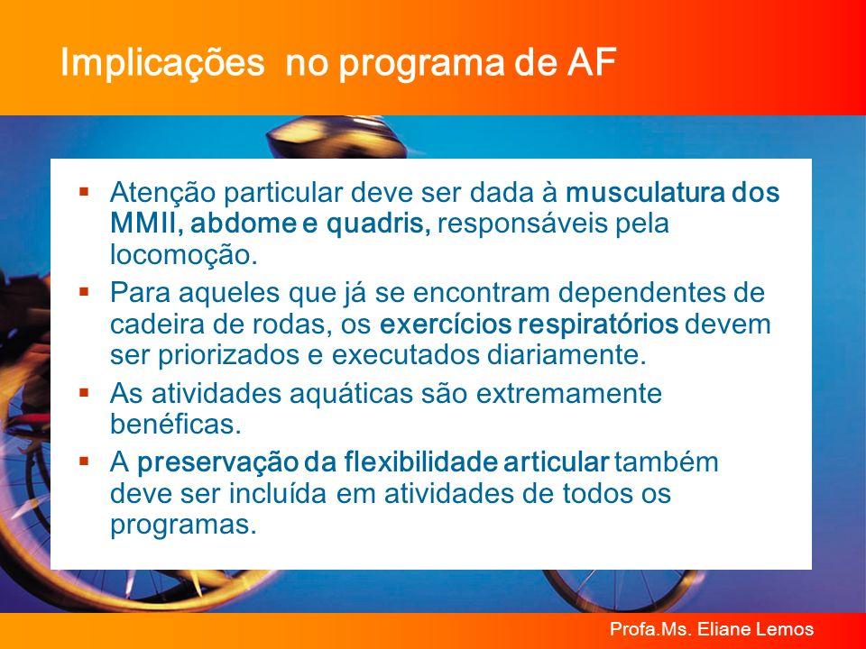 Implicações no programa de AF