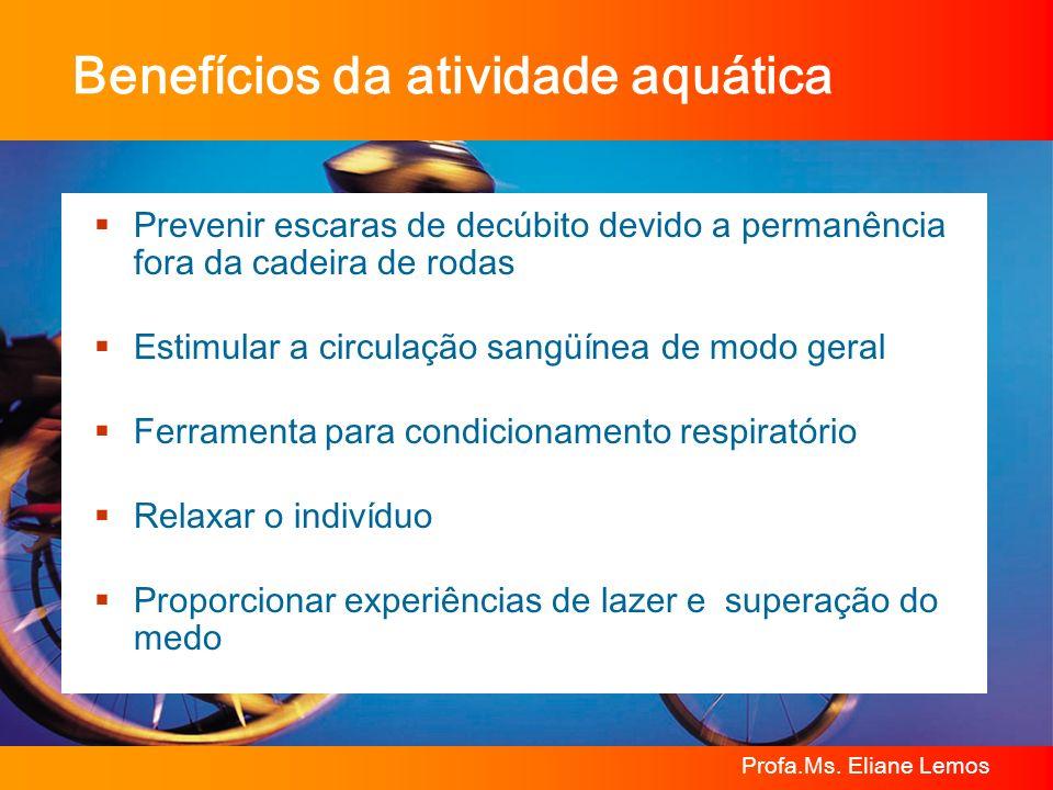 Benefícios da atividade aquática
