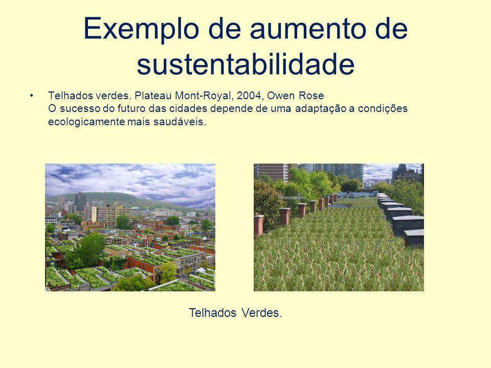 Exemplo de aumento de sustentabilidade