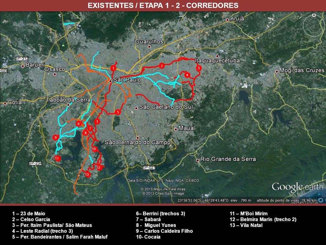EXISTENTES / ETAPA 1 - 2 - CORREDORES