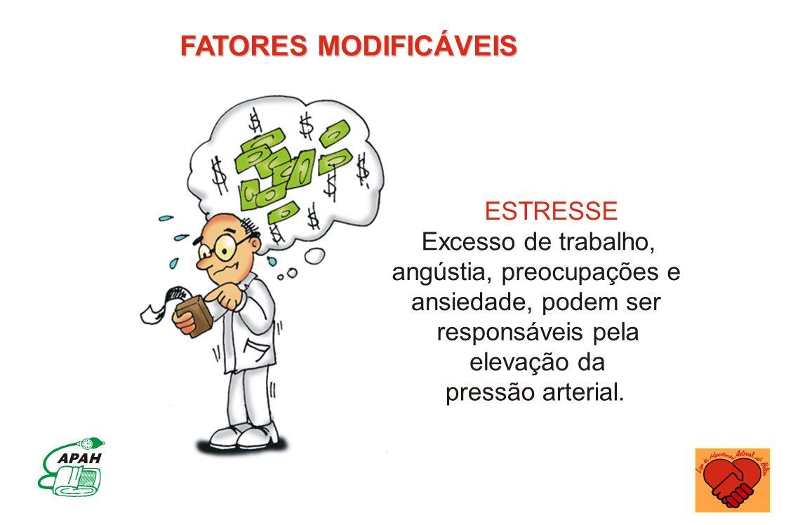 FATORES MODIFICÁVEIS ESTRESSE Excesso de trabalho,
