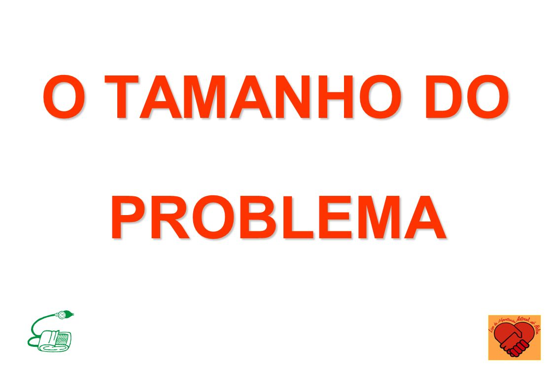 O TAMANHO DO PROBLEMA