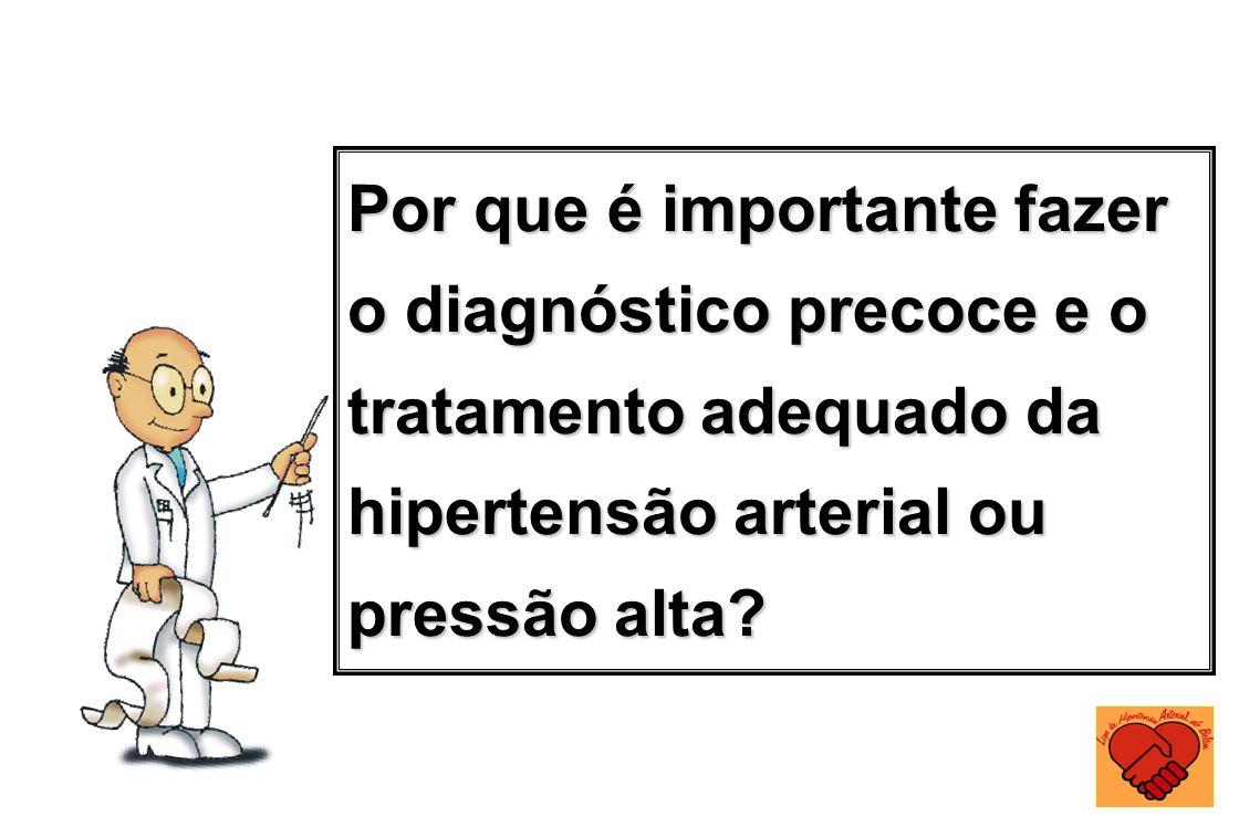 Por que é importante fazer o diagnóstico precoce e o tratamento adequado da hipertensão arterial ou pressão alta