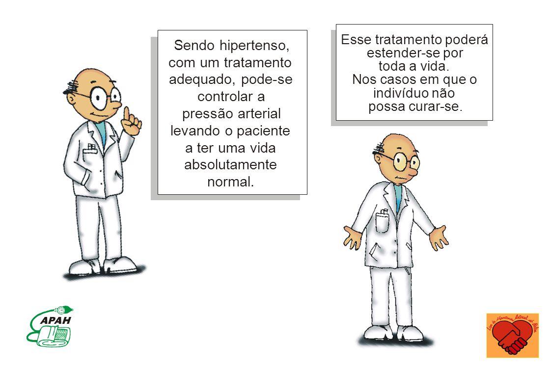 Sendo hipertenso, com um tratamento adequado, pode-se controlar a