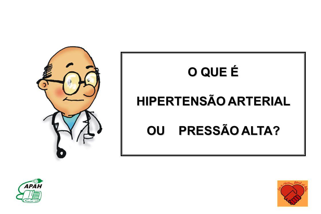 HIPERTENSÃO ARTERIAL OU PRESSÃO ALTA