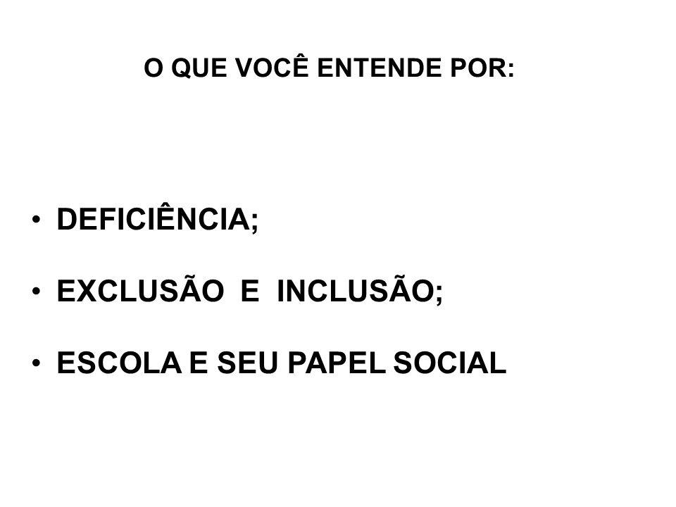 ESCOLA E SEU PAPEL SOCIAL
