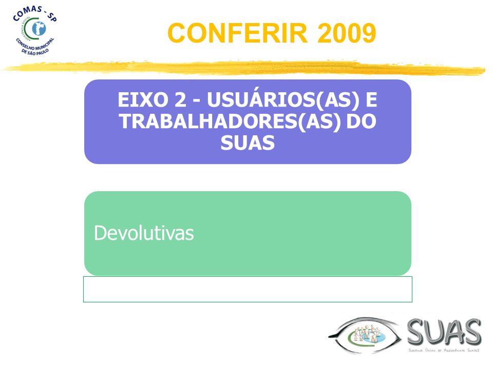 EIXO 2 - USUÁRIOS(AS) E TRABALHADORES(AS) DO SUAS